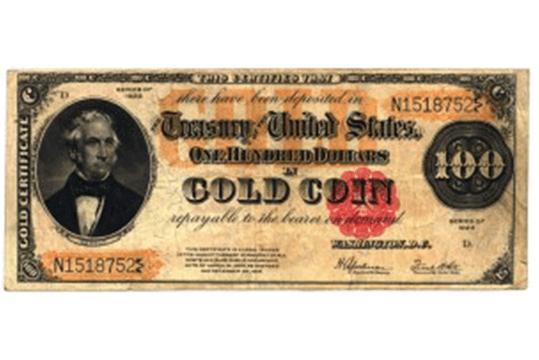 gold certificates
